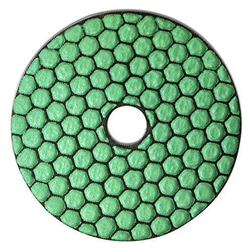 Profi Diamant-Schleifpad für Trockenschliff, D = 100 mm, Polierer, Klettaufnahme, für Naturstein, Kunststein, Granit, Marmor, Glas, Keramik oder Fliesen