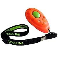 Dogsline Clicker professionnel avec dragonne élastique , training dressage pour chiens chats chevaux
