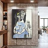 MKWDBBNM Pintor Famoso Decoración del hogar Pintura Abstracta Pesadilla Antes de Navidad Cuadros de Pared para Sala de Estar Arte de la Pared Póster en Lienzo | 60x80cm Sin Marco