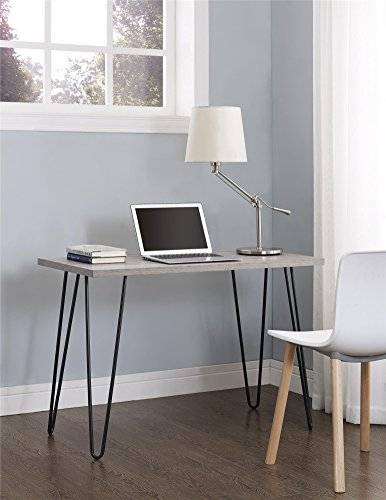 Ameriwood Home Owen Retro Desk with Metal...