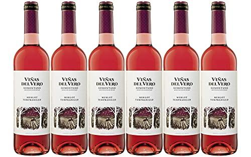 Viñas Del Vero Merlot Tempranillo - Vino D.O. Somontano - 6 botellas de 750 ml - Total: 4500 ml