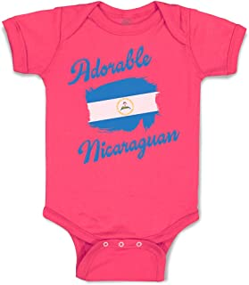 Custom Baby Bodysuit Adorable Nicaraguan Nicaragua Cotton Boy & Girl Clothes