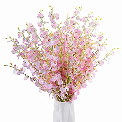 Artificial Orchids Flowers 12 PCS Real Touch Si...