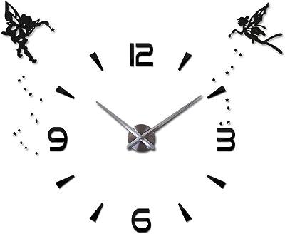Jolie d/écoration Murale pour Cuisine Or Rouge Horloge Vintage Ronde avec Chiffres Noirs Bien lisibles et Cadran marbr/é mDesign Horloge Murale esth/étique avec Jolies Aiguilles Salon ou Bureau
