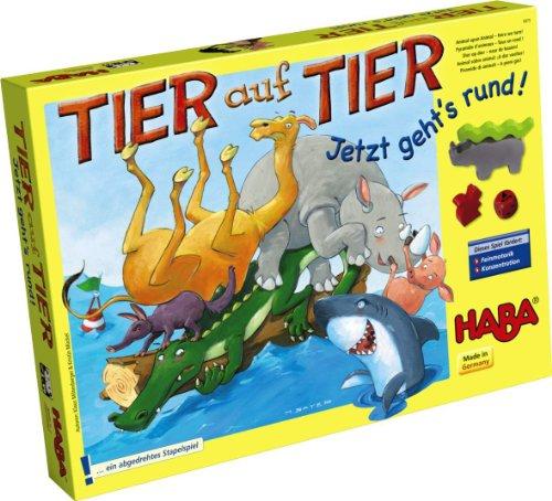 HABA 4973 - Tier auf Tier - Jetzt geht's rund, Geschicklichkeitsspiel