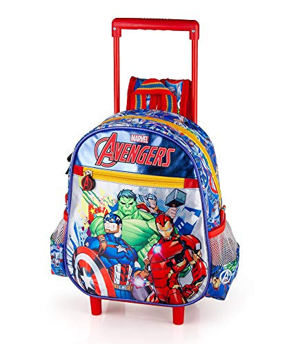 The Avengers Zaino Trolley Asilo, 29 Centimetri, Poliestere, Multicolore