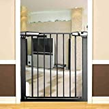 SuRose Extra ancho Puerta de bebé Presión Extensión Extensión apta Auto Cerrar Puerta para mascotas para las puertas de la escalera del perro gato Juegue Patio (Tamaño: 136-143cm)
