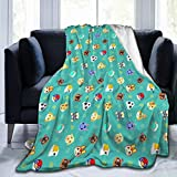 HOIVID Animal Crossing Weighted Blanket Anime Plush Ultra-Soft Throw Blankets for Bed 50'x40'