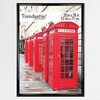 MCS Trendsetter Poster Back-Loading Wall Art & Puzzle Frame 20 x 28 in Black
