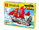 Apostrophe Games Pirate Ship Building Block Set - 1123 Pieces
