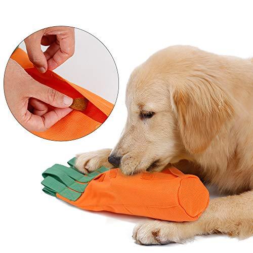 AYADA Hundespielzeug Karottenform Langsame Zuführung, Hund Quietschspielzeug Dog Toy Hundespielzeug Quitschend Schadstofffrei/Interaktives Spielzeug/Quitsche Spielzeug/Intelligenz Spielzeug für Hund