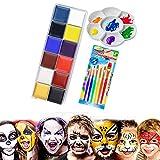 12 en 1 color cara drama efectos especiales cuerpo pintura al óleo arte maquillaje fiesta de Halloween disfraces artista paleta