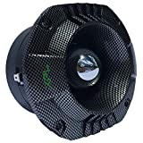 XPL XTW4611 XTW 4611 Driver a compresión Tweeter Bullet de 150 Watt rms 300 Watt MAX para Uso spl DJ Coche casa impedancia 4 Ohm Carbon Look 110 db monstruoso !!!