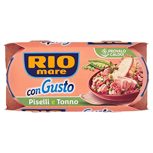 Rio Mare - ConGusto Piselli e Tonno, Piatto Pronto da Gustare anche Caldo, 2 Lattine da 160 g