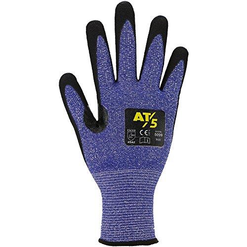 ASATEX Schnittschutz-Handschuh 5099, blau/schwarz, Gr. 7 (10 Paar)