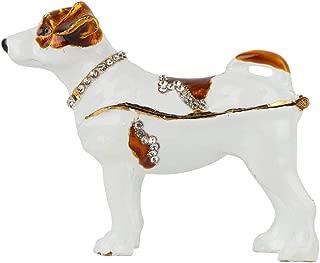 Zerone Dog Statue Ornament, Shiny Diamonds Dog Decoration Metal Crafts Home Decor Ornaments Gift