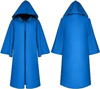 Unisex Hooded Cape Cloak Full Length Halloween Cape Cosplay Robe Costumes Masquerade Cloak