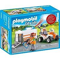 PLAYMOBIL Life City Quad Rescate+Remolque, Color carbón (70053)