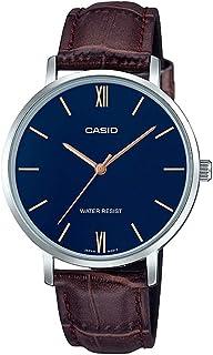 Casio Womens Quartz Watch, Analog Display and Leather Strap LTP-VT01L-2BUDF