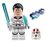 LEGO Jek-14 Star Wars minifigure - COMPLETE (White lightsaber, helmet, hair-piece, & lightning)