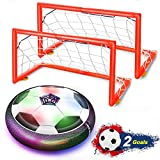 Feiqio Kids Toys Hover Soccer Ball Set with 2 Goals, Air Power Training Football Game, Indoor Soccer Ball with LED Light-Football Toy for Boys Girls Age 3 and up Best Gift (Red)
