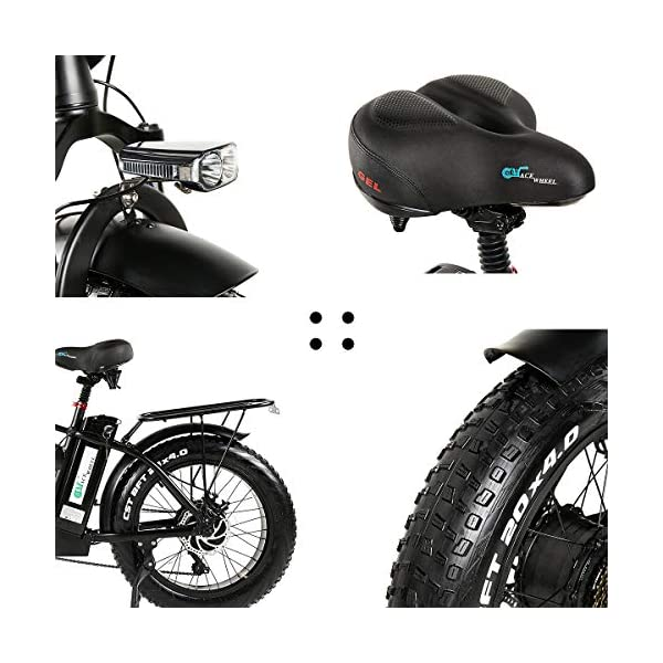 Electric Bikes MARTES Electric Folding Bike Fat Tire 20 4″ with 48V 500W 15Ah Lithium-ion battery,City Mountain Bicycle Booster 100-120KM