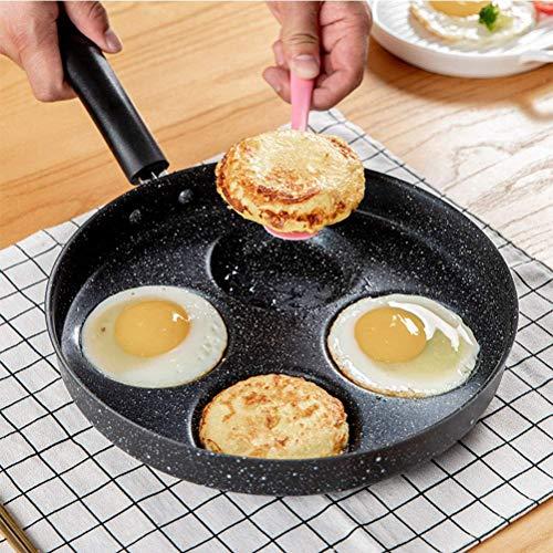4-Loch Multi Ei Bratpfanne Eierpfanne Ei Celente Pfanne Pfannkuchenpfanne Antihaft-Eierkessel Pfannkuchen Backblech aus Aluminiumlegierung xinqing