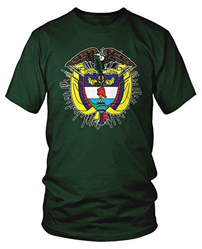 Amdesco Herren Wappen Kolumbiens T-Shirt mit kolumbianischen Armen - - Groß