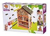 Eichhorn 100004584 Bienenhaus zum Zusammenbauen und Bemalen, inkl. Pinsel und Farbe, 10x26x21cm, Lindenholz, BSK, 6J+, bunt