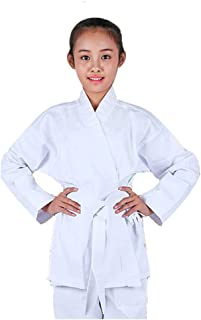 NAMAZU Karate Uniform for Kids and Adult, Lightweight Karate Gi Student Uniform with Belt for Martial Arts Training - White