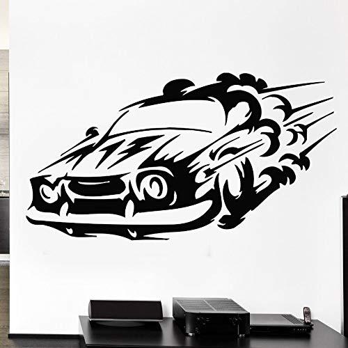 78 * 42 cm Autorennen Sport Wandtattoo Geschwindigkeit Mann Wandbild Removable Vinyl Wandaufkleber für Wohnzimmer Rennen Geschwindigkeit Auto Vinyl Aufkleber