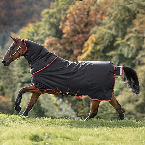 Horseware Amigo Bravo 12 Plus Heavy Turnout tapijt 7ft0 Zwart/Rood & Goud