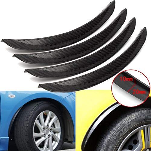 HCHD 4pcs Carbon Fiber Wheel Arch Fender Flares Cover Trim Mudguards Protective Lip Anti-Scratch Strips Universal Car Accessories Car fender