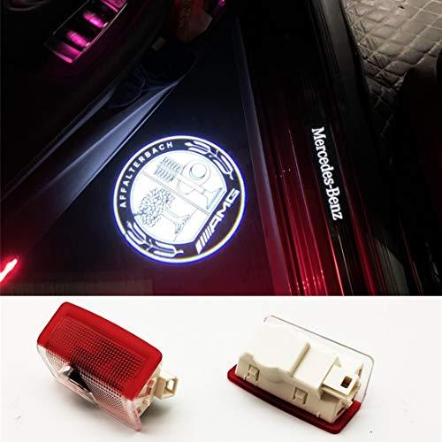 2 Pcs Car Projection LED Projector Door Shadow Light Welcome Light Laser Emblem Logo Lamps Kit for A class W176/W177 A180 AMG /AMG A45 s/a35/a200d/a220L/a200L/A250 SPORT 4MATIC/ front door