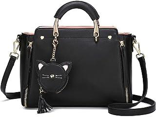 BUKESIYI Damen Tasche Umhängetasche Handtasche Frauen Klein Schultertasche Weekender Lack PU Leder CCDE77215