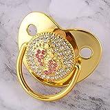 weichuang Schnuller, synthetischer Diamant, goldfarben, für Neugeborene, Unisex, aus Silikon,...