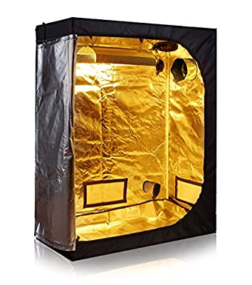 TopoLite Hydroponics Growing System Indoor Greenhouse 4'x2' Grow Tent Room Reflective Mylar Indoor Garden Growing Room Hydroponic System