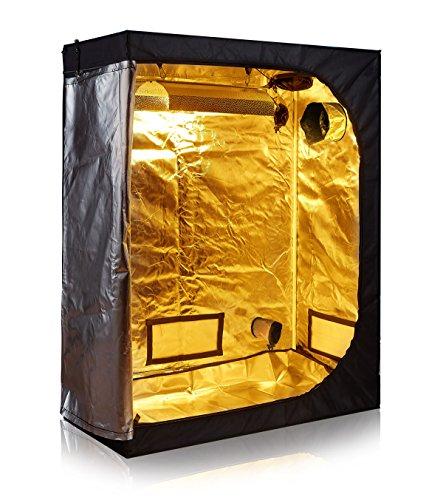 TopoLite 48'x24'x60' Indoor Grow Tent Room 600D Mylar Hydroponic Growing Plant w/Plastic Corner...