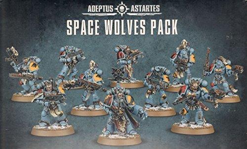 GAMES WORKSHOP 99120101137 Space Wolves Pack Mesa y Juego en Miniatura