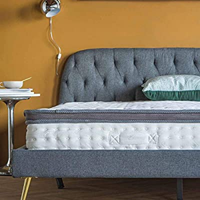 High Density 13-inch Hybrid Memory Foam and Spring Mattress with Plush Pillow Top