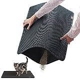 Blackhole Litter Mat - Moonshuttle Rectangular Cat...