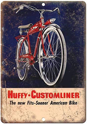not Huffy-Customliner Fahrrad-Metallplakat Blechschild Eisen Malerei Warnschild Wanddeko für Café Bar Hotel Büro Home Yard