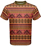 CowCow Mens Brown Eagles Tribal Native American Men's Sport Mesh Tee, Brown - 5XL