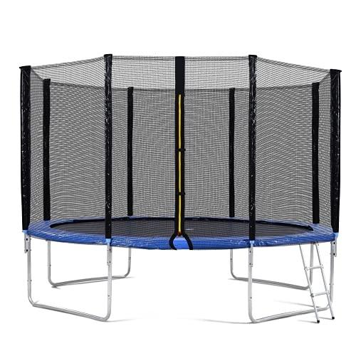Cama elastica exterior, Cama elástica de jardín, cama elástica para exteriores, para entrenamiento de saltos, fitness, sistema de salto elástico, incluye red de seguridad