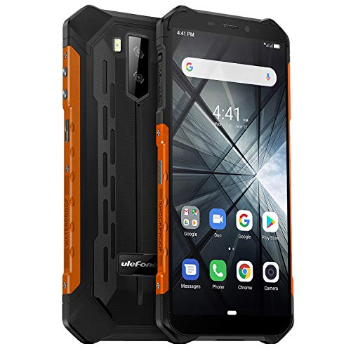 Ulefone Armor X3 Outdoor Handy 32GB Speicher, 5,5 Zoll, 5000mAh Akku, Android 9.0, IP68 Smartphone Wasserdicht Stoßfest Staubdicht, Kompass GPS WiFi Face ID - Orange