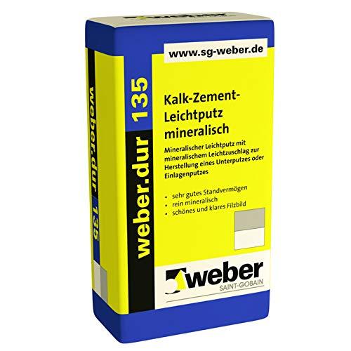 Weber.dur 135 30kg Kalk-Zement Leichtputz mineralisch Unterputz Einlagenputz
