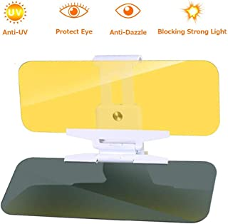 Zhier Visor for Car - Car Sun Visor Day/Night for Driving, 2 in 1 Day and Night Anti-Glare Adjustable Version Visor for Car