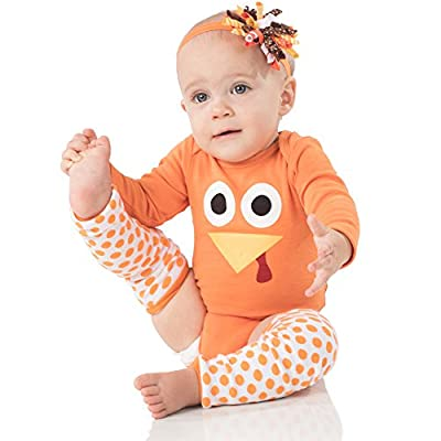 juDanzy Halloween & Christmas Baby Gift Box outfit set (0-3 Months, Jenny Turkey)