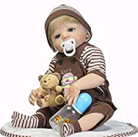 Rebirth Doll Baby Doll Toddler Full Silicone Simulation Baby Reborn Doll、C11 For Age 3+ Lovely Lifelike