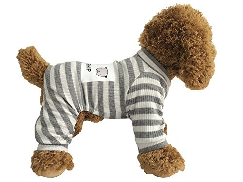 Dog PJS Clothes for Small Dogs Girl Puppy Pajamas Long Sleeved Onsie Warm Coats Jumpers Outfit